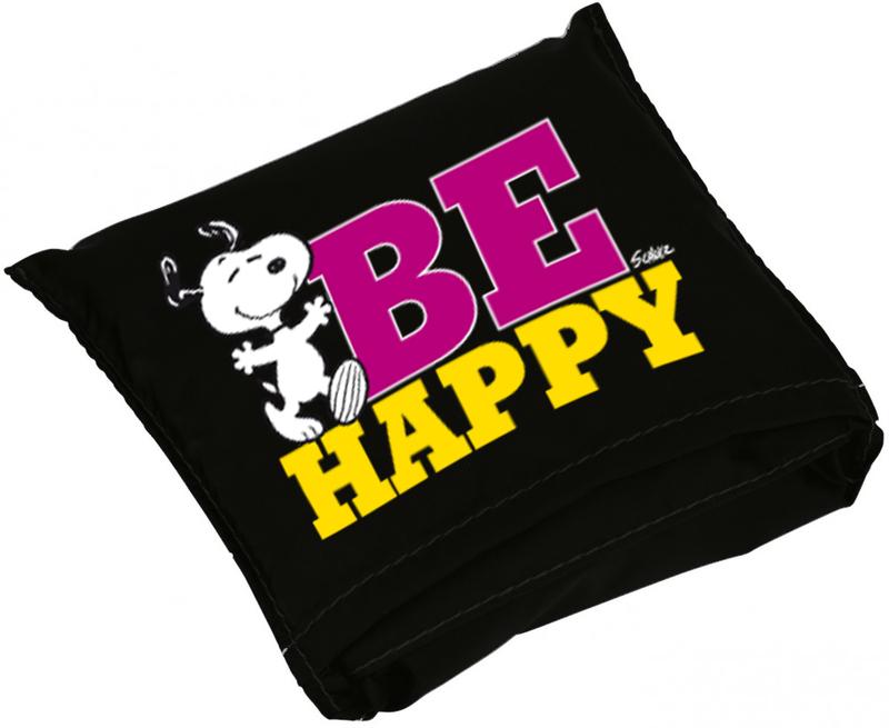 BOLSA PLEGABLE SNOOPY BE HAPPY: portada