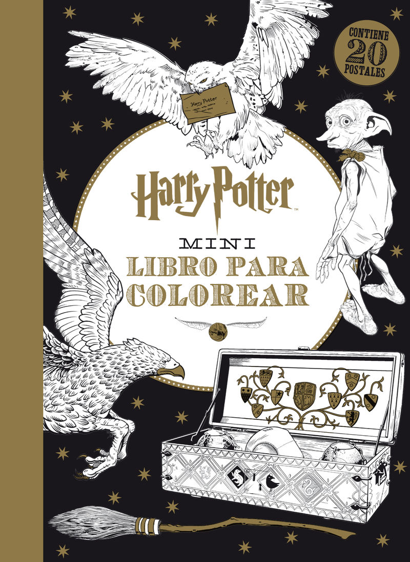 Harry Potter Mini libro para colorear: portada