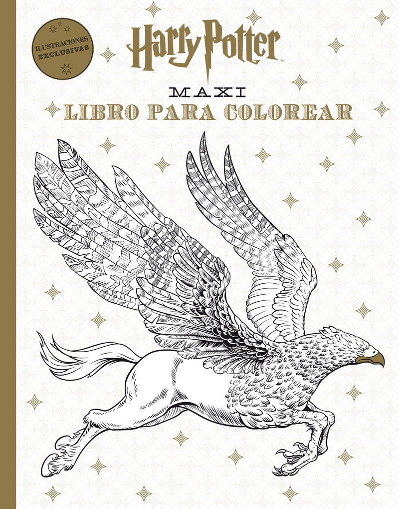 Harry Potter Maxi libro para colorear: portada