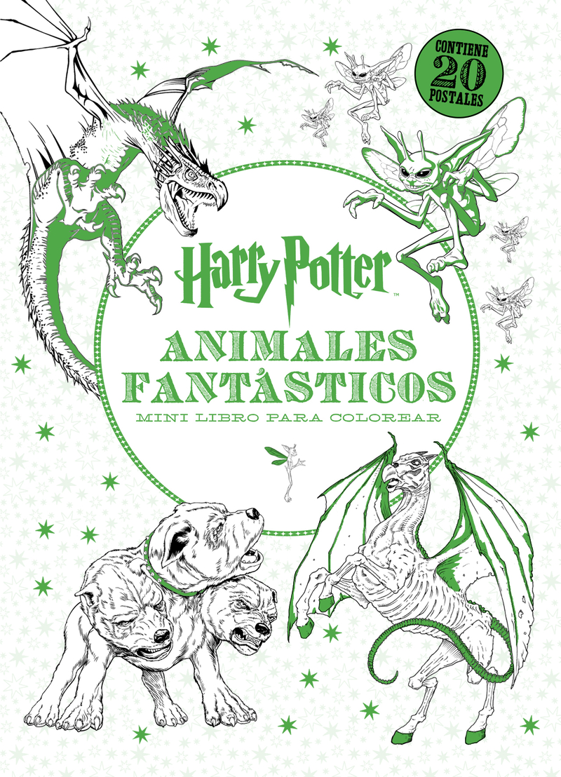 Harry Potter-Animales fant�sticos Mini libro para colorear: portada