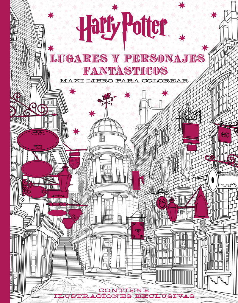 Harry Potter Lugares y personajes fantásticos Maxi libro par: portada