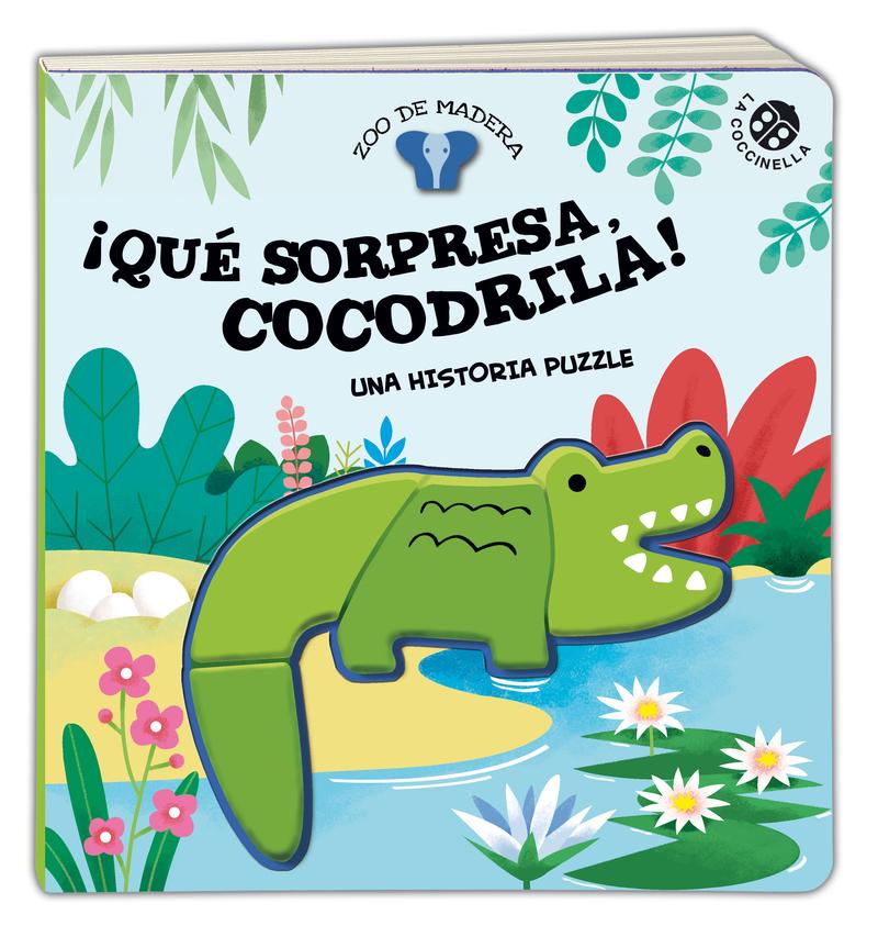 ¡Qué sorpresa, Cocodrila! Una historia puzzle: portada