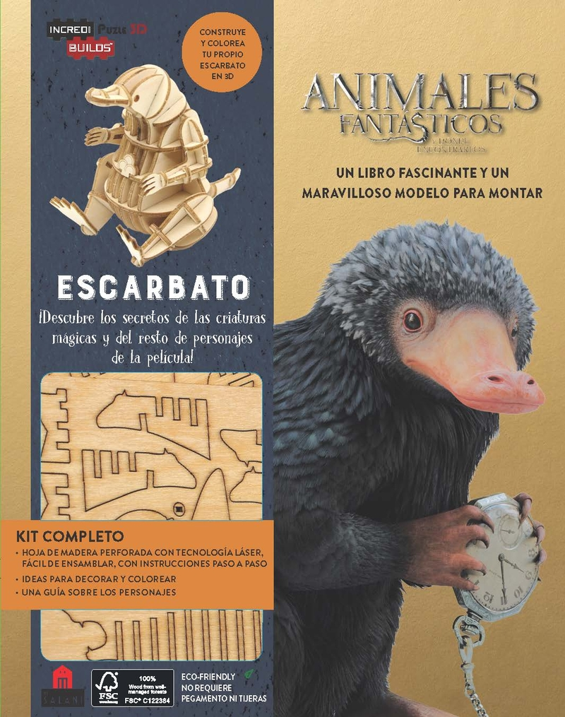 Incredibuilds Animales fantásticos Escarbato: portada