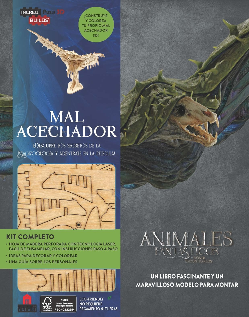 Incredibuilds Animales fantásticos Mal acechador: portada