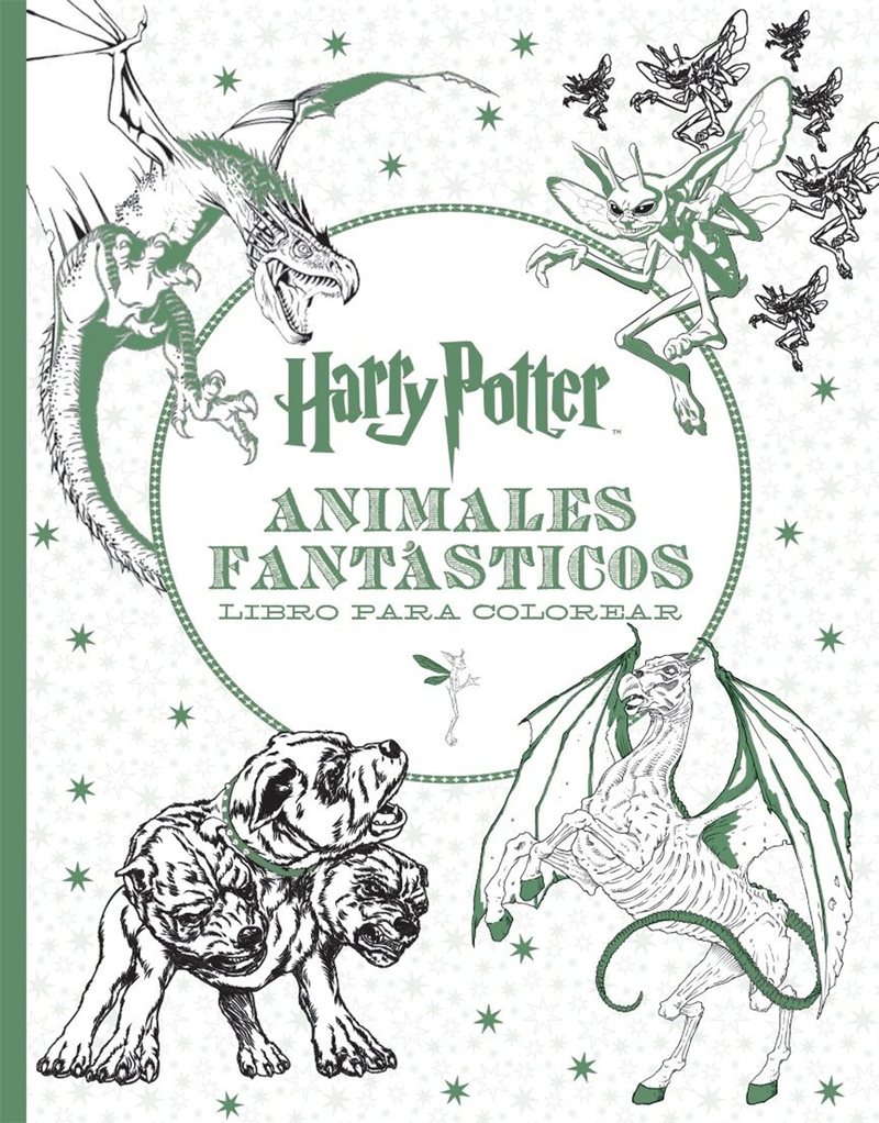 HARRY POTTER-ANIMALES FANTÁSTICOS LIBRO PARA COLOREAR: portada