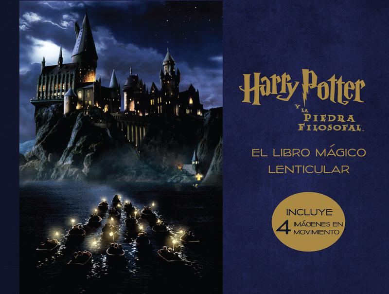 El libro mágico lenticular de Harry Potter y La piedra filos: portada