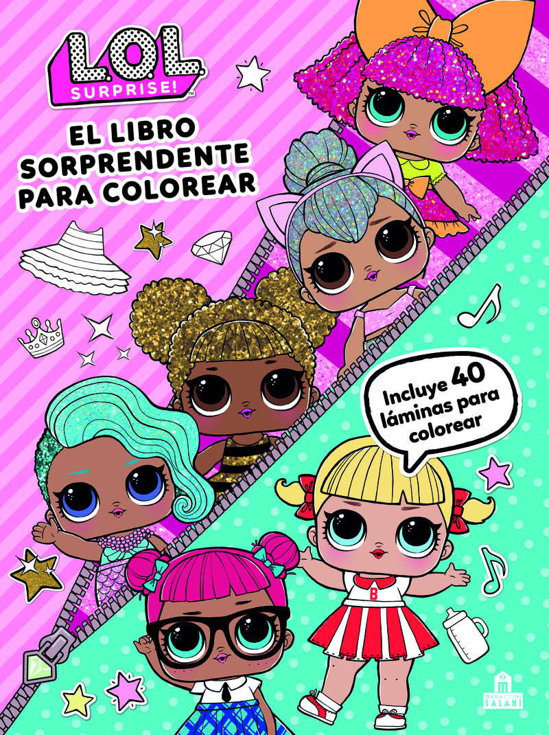 LOL Surprise! El libro sorprendente para colorear: portada