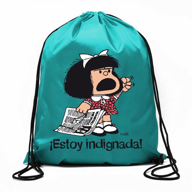 Bolsa de cuerdas Mafalda ¡Estoy indignada!: portada