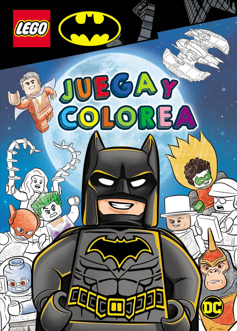 BATMAN LEGO. JUEGA Y COLOREA: portada