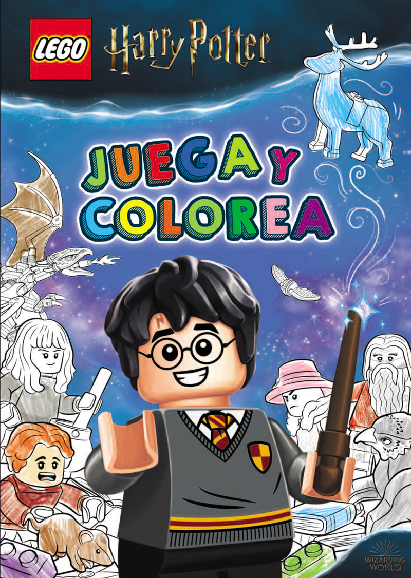 HARRY POTTER LEGO. JUEGA Y COLOREA: portada