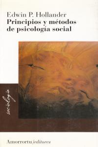 PRINCIPIOS Y M�TODOS DE PSICOLOG�A SOCIAL: portada