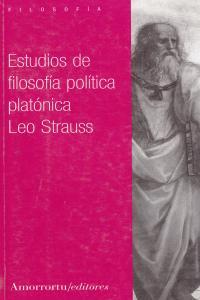 ESTUDIOS DE FILOSOFíA POLíTICA PLATóNICA: portada