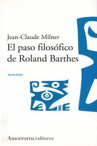 EL PASO FILOSóFICO DE ROLAND BARTHES: portada