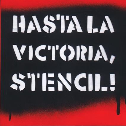 HASTA LA VICTORIA STENCIL: portada