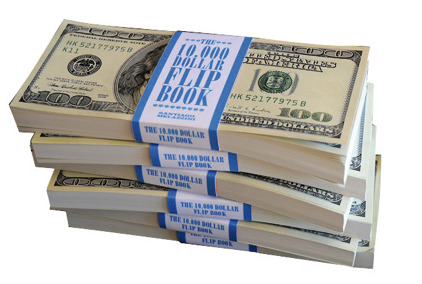 10000 DOLLAR FLIP BOOK: portada