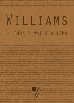 CULTURA Y MATERIALISMO: portada