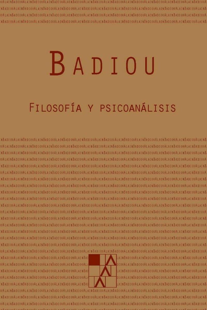 FILOSOFIA Y PSICOANALISIS: portada