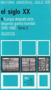 SIGLO XX II EUROPA DESPUES DE LA SEGUNDA GUERRA MUNDIAL: portada