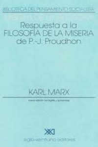 MISERIA DE LA FILOSOFIA: portada