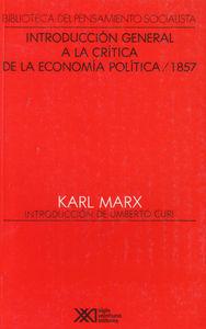INT.GENERAL A LA CRITICA DE LA ECONOMIA POLITICA / 1857: portada
