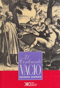 CONTINENTE VACIO,EL: portada