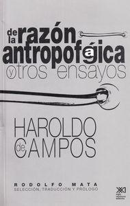 DE LA RAZON ANTROPOFAGICA Y OTROS ENSAYOS: portada