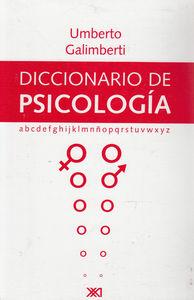 DICCIONARIO DE PSICOLOG�A: portada