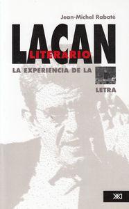 LACAN LITERARIO LA EXPERIENCIA DE LA LETRA: portada