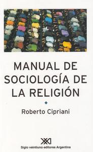 MANUAL DE SOCIOLOGIA DE LA RELIGION: portada