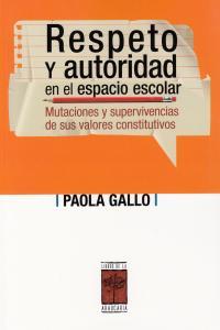 RESPETO Y AUTORIDAD EN EL ESPACIO ESCOLAR: portada