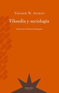 Filosofía y sociología: portada