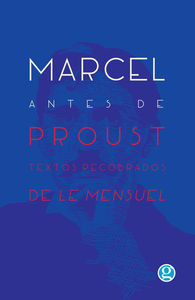 Marcel antes de Proust: portada