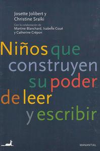 NIñOS QUE CONSTRUYEN SU PODER DE LEER Y ESCRIBIR: portada