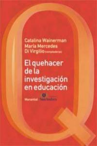 EL QUEHACER DE LA INVESTIGACIÓN EN LA EDUCACIÓN: portada
