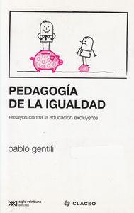 PEDAGOGIA DE LA IGUALDAD: portada