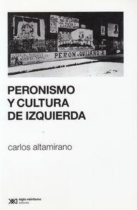PERONISMO Y CULTURA DE IZQUIERDA: portada