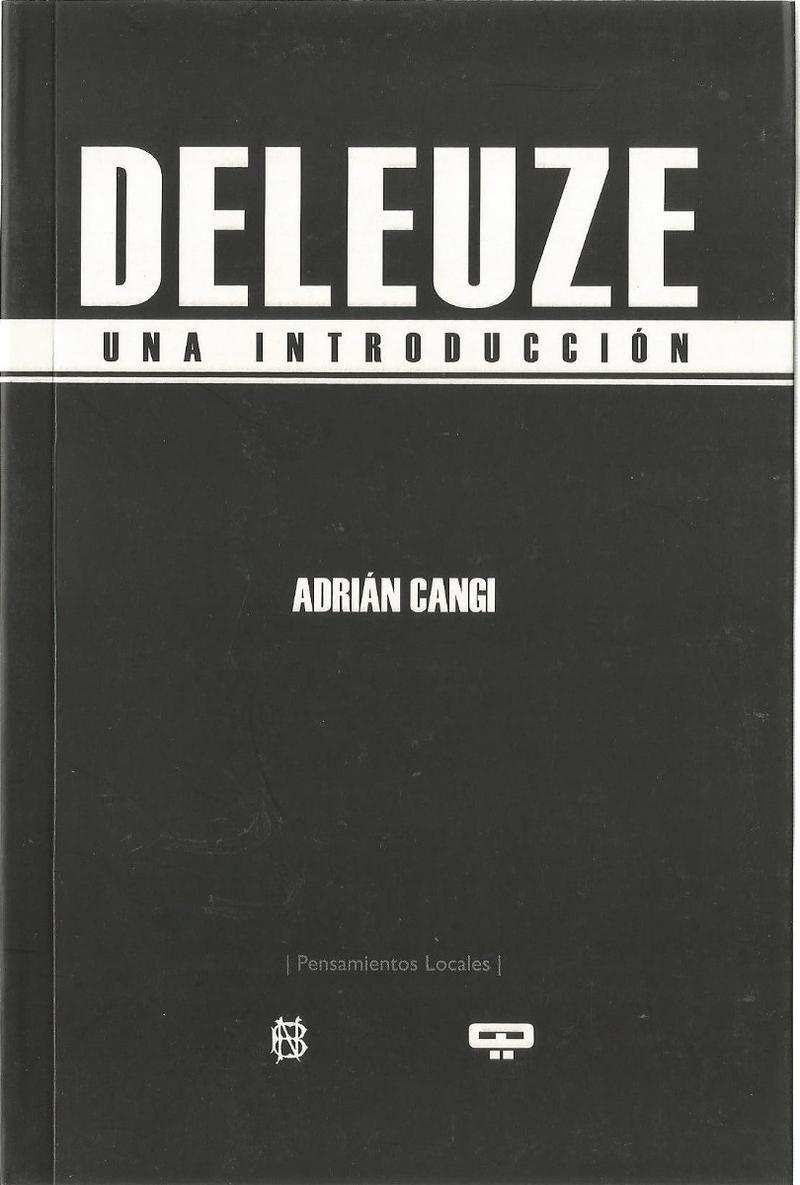DELEUZE. Una introducción: portada