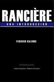 RANCIÈRE. Una introducción: portada
