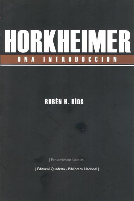 HORKHEIMER. Una introducción: portada