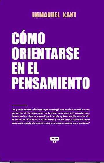 CÓMO ORIENTARSE EN EL PENSAMIENTO: portada