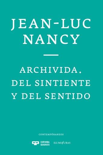ARCHIVIDA. DEL SINTIENTE Y DEL SENTIDO: portada