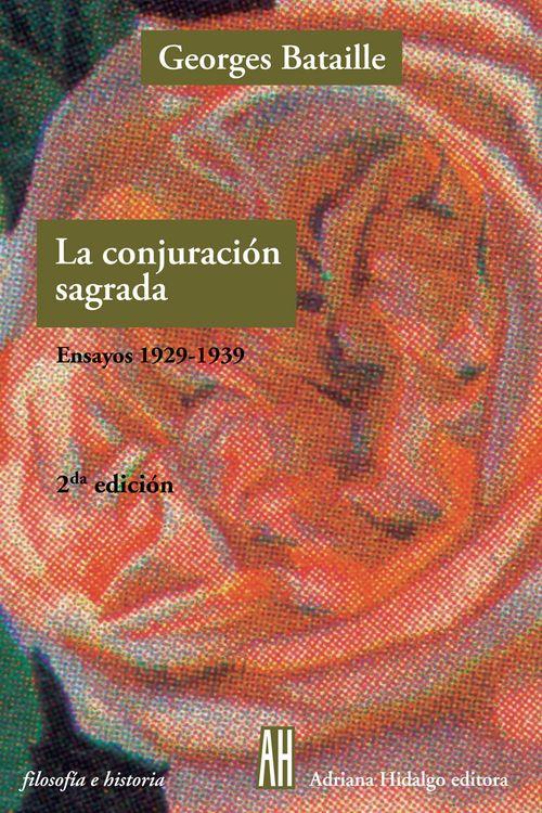 CONJURACION SAGRADA ENSAYOS 1929 1939: portada