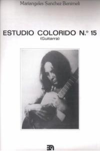 ESTUDIO COLORIDO Nº 15 (GUITARRA): portada