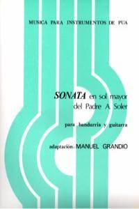 SONATA EN SOL MAYOR DEL PADRE ANTONIO SOLER: portada