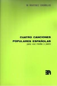 CUATRO CANCIONES POPULARES ESPAñOLAS: portada