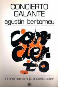 CONCIERTO GALANTE (IN MEMORIAM P. SOLER): portada