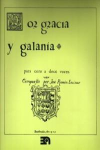POR GRACIA Y GALANIA: portada