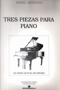 TRES PIEZAS PARA PIANO: portada