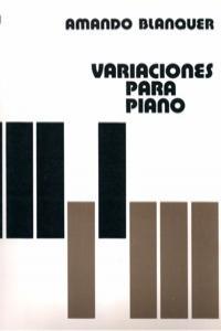 VARIACIONES PARA PIANO: portada